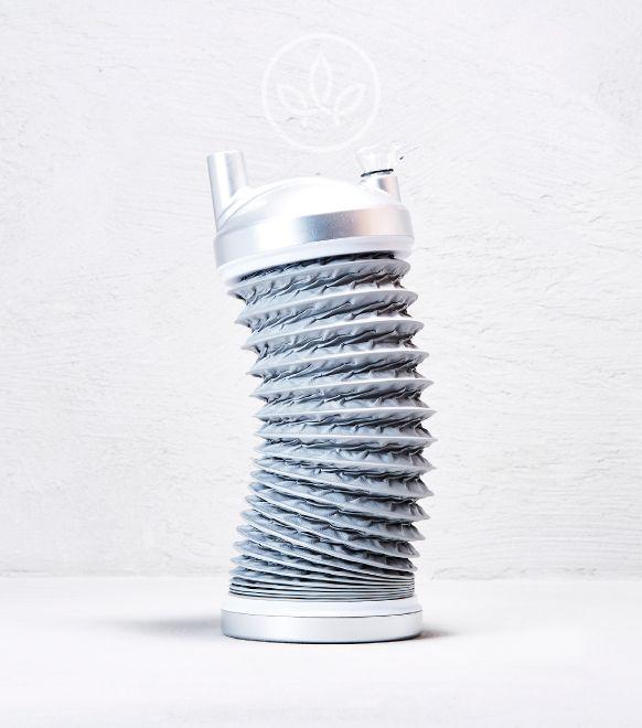 Acrylbong Akkordeon, Silber