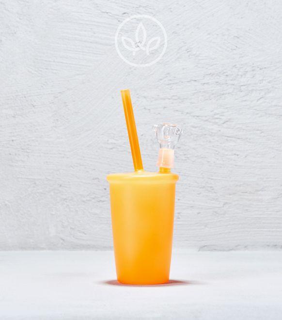 Glasbong Becher, Orange