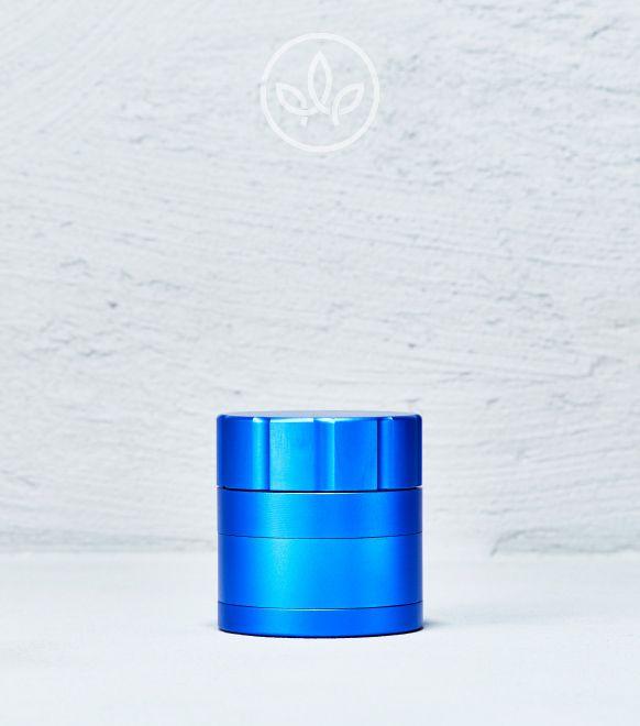 Broyeur en métal modèle baïonnette 53mm à 4 pièces, Bleu