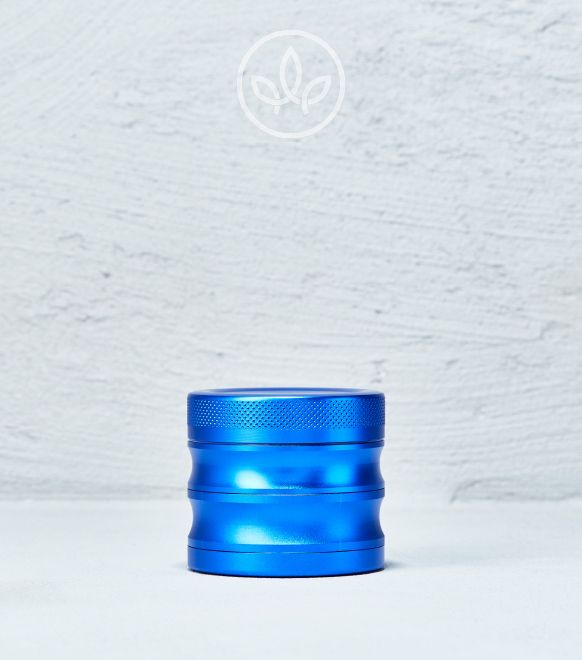 Broyeur en métal ondulé 56mm à 4 pièces, Bleu