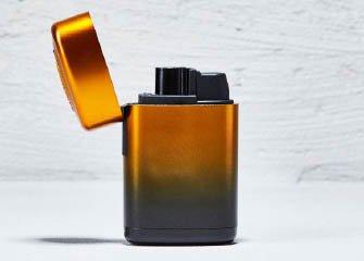 Bongfeuerzeug Eduard Plastik orange